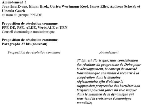 Amendement n°3 formulé par Jonathan Evans, Elmar Brok, Corien Wortmann-Kool, James Elles, Andreas Schwab et Urszula Gacek au nom du groupe PPE-DE